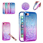 For iPhone SE 2nd 2020 Case / iPhone 8 7 Case Bling Sparkly Flowing Liquid Cover