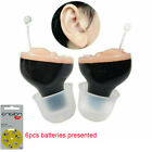 Mini Hearing Aids CIC Small Invisible Sound Amplifier Voice Enhancer W/ Battery