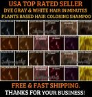 5 PCS PLANTS BASED HAIR DYE SHAMPOO COLOR GRAY&WHITE HAIR 12 COLORS IN MINUTES