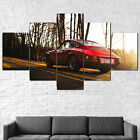 Old Porsche 912 Sports Classic Red Car Canvas Framed 5 Pcs Wall Art Poster Decor