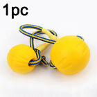 Pet Dog Squeaky Chew Rope Ball Rubber Fetch Training Toys Ball Yellow