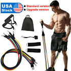 11 Pieces Resistance Trainer Set Exercise Fitness Tube Gym Workout Bands image