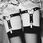 Women's Adjustable Heart Leg Garter Leather Punk Harness Gothic Thigh Ring Belt