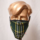 Family Pack of 5 Units Irish Green Tartan Mask Breathable Double Layer Washable