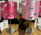 Pink CUT OUT BUTTERFLY Butterfly  Kids Lamp-Two Shades - LIGHT/HOT PINK HOME ITE