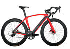 56cm Disc brake Carbon Bicycle AERO Road Bike Red 700C Frame Wheels Clincher 11s
