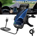 Qi Wireless Car Charger Holder Mount Stand Fast Charging Dock Cradle A+