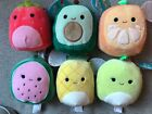 "Kellytoy Squishmallows 12"" 2020 Fruit collection Plush Pillow Toy NWT"