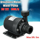 Mini DC12V 5M 800L/H Mini Brushless Motor Ultra-quiet Submersible Water Pump UK