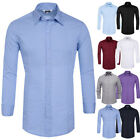 New Dress S-xl Casual Sleeve Men's Shirts Fit Long Stylish Tops Slim Business