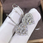 Sunshine 925 Silver Drop Earrings for Women Jewelry White Sapphire A Pair/set image