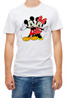 Minnie Mouse Mickey Mouse love Short sleeve White Men T shirt K141
