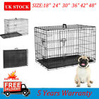 Dog Cage Puppy Pet Crate Carrier -Small Medium Large S M L XL XXL Metal Foldable