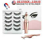 5 Pairs MAGNETIC Lash Eyeliner KIT Liner Eyelashes Liquid Easy Fake Lashes Set