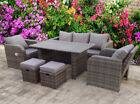 Rattan Recliner  Wicker Garden Outdoor Table And Dining Furniture Patio Set Grey