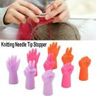 6pcs Knitting Needles Point Protectors Needle Tip Stopper Weave Sewing Tool T2r0