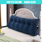 180CM Triangular Wedge Daybed Pillow Support Cushion Backrest Headboard Blue