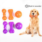 EG_ HN- 2Pcs Pet Dog Puppy Ball Barbell Bone Bite-resistant Sounder Play Game Ch