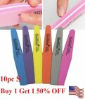 Внешний вид - 10 pcs New Sponge Nail files Tips Buffer 100/180 Sanding Block Manicure Pedicure