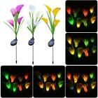 Solar Power Calla Lily Light Outdoor LED Garden Lawn Landscape Path Stake Lamp