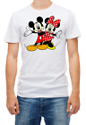Mickey and Minnie Mouse Short Sleeve White Men's t Shirt K112