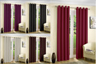 Blackout Thermal Curtains Eyelet Ring Top Curtain Pair With Tie Backs