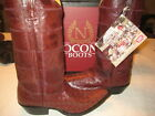 Nocona Boots Men's Western Boots Burgundy 0511 Full shaft Ostrich Leather