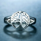 Creative Tree of Life Jewelry 925 Silver Rings Engagement Girls Rings Size 6-10