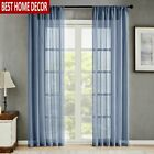Tulle Modern Window Curtains for Living Room Solid Sheer Curtains for Bedroom