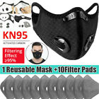 Face Mouth Mask Reusable Covers With Activated Carbon Filter Pad Breathing Valve