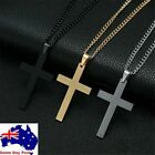 Large Silver Or Gold Plated Cross Necklace Pendant  Drop Necklace Chain