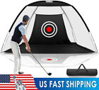 2M Golf Training Net Foldable Hitting Target Tent Cage Practice Driving Soccer