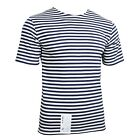 T-Shirt Top Navy Blue Stripe Russian Marines Surplus Military Army Summer A02102