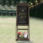 "46"" Rustic Chalkboard Signs Wedding A Frame Chalkboard Easel Sign Freestanding"