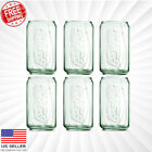Coke Can Glass Genuine Coca-Cola Clear Green Drink Cup Vintage NEW 12 OZ Glasses $8.99  on eBay