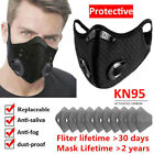 Reusable Face Mask With Activated Carbon Mouth Covers Breathing Valve Filter Pad