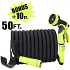 Sunflora 50 ft Expandable Garden Hose Bonus 10 feet with Solid Brass Fittings 9