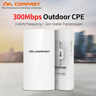 COMFAST CF-E130N WiFi Outdoor CPE 300Mbps Wireless Bridge Router Repeater