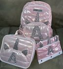 Justice Unicorn Backpack/lunchbox/pencilcase Initial(a,e,k,l,s) Shimmering Rose