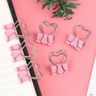 1pcs Pink Clip Heart Hollow Out Metal Binder Clips Notes Letter Paper Clip_k5