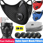 Sport Face Mask Replaceable Filter & Breathe Valve  Protection Purify Respirator