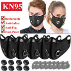 Sports Face Mask Valves Reusable Respirators & Replaceable Carbon Filters Purify