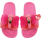 TY Beanie Babies GILDA the FLAMINGO Pool Sliders Flip Flop Slides