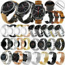 For Huawei Watch GT 2 2e 46 42mm Huawei Honor Leather Stainless Steel Band Strap