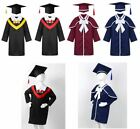 Boys Girls Graduation Gown Cap Kid School Cosplay Party Dress Up Outfits Costume