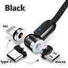 360°+180°  Magnetic USB C For iPhone 7 8 11 Type-C Samsung S10 S20 Micro-USB Lot