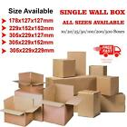 Cardboard Boxes Brown Single Wall Packing Cartons Storage Mailing Small Post Box
