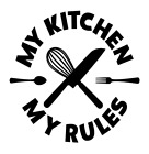 My Kitchen My Rules Vinyl Decal Sticker For Home Cup Mug Wall Decor Choice Xx
