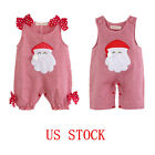 US Girls Christmas Romper Costumes Baby Cosplay Birthday Party Summer Jumpsuits