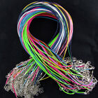 100pcs Bulk Lot Suede Leather String Pendent Necklace Cords Rope Straps Waxed